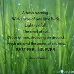 Fresh Morning Quotes