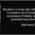 Kofi Annan Education Quote Facebook