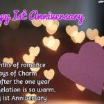 One Year Love Anniversary Wishes