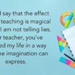 Simple Message For Teacher