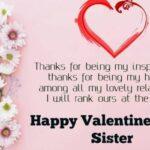 Valentine Day Sister Message Facebook